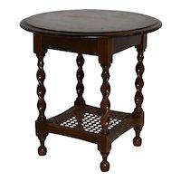 Small Oak Table with Barley Twist Legs