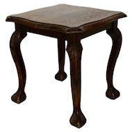 Square Oak Side Table