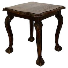 Square Oak Side Table