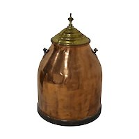 Copper Canister with Brass Lid