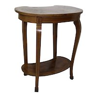Kidney Shaped End Table with Inlays