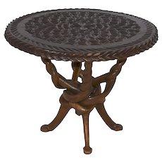 Carved Side Table
