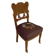 Victorian Style Chair with Needlepoint Seat