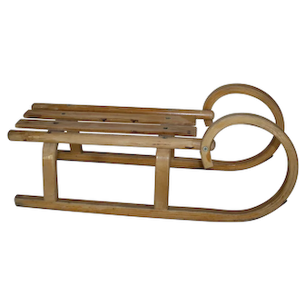 Small Ram's Horn Bentwood Sled
