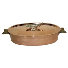 Swiss Copper and Brass Oval Fish Poacher