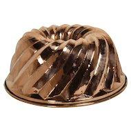 German Copper Gugelhupf Cake Mold