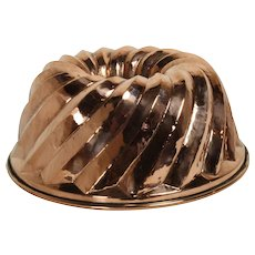 German Copper Gugelhupf Cake Mold