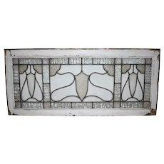 Textured Stain Glass Transom Window