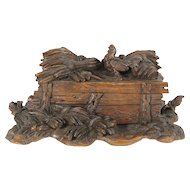 Black Forest Jewelry Box with Carved Rooster