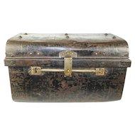 English Steel Luggage Trunk