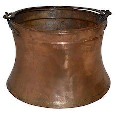 Copper Cauldron with Brass Handle