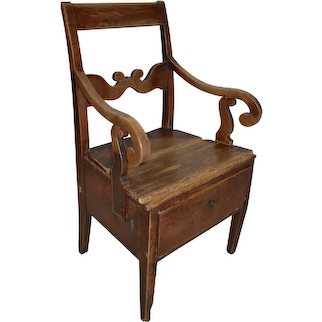 Pine Armchair with Storage
