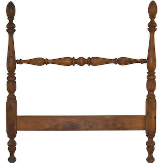 Pine Finial Twin Headboard