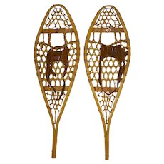 Canadian Huron Snowshoes by Bastien Brothers