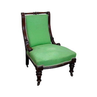 Antique 19th Century English Mahogany Library Side Chair