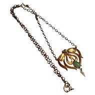 Vintage Art Nouveau gold filled necklace