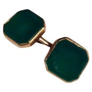 Vintage 14k crystophase double side cufflinks