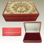 Rolex Tapestry Box. 60.01.2.Red Leather. Vintage: Swiss
