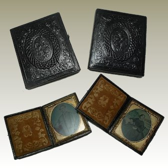 Antique Ambrotype Cased Photographs. English Victorian