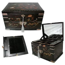 Japanese Lacquered Tansu Chest / Writing Slope Late C19th