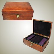 Antique Pine Jewelry Box. Internal Tray