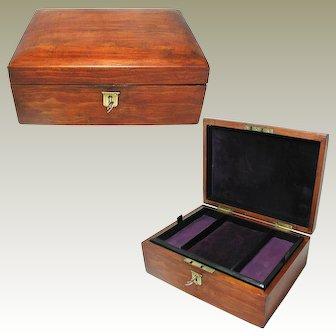 Antique Pine Jewelry Box. Internal Tray