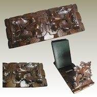 Black Forest Book Slide - Quality Hand Carving Oak Leaves & Acorns