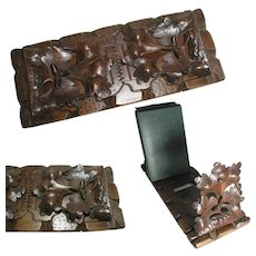 Black Forest Book Slide - Quality Hand Carving Oak Leaves & Acorns