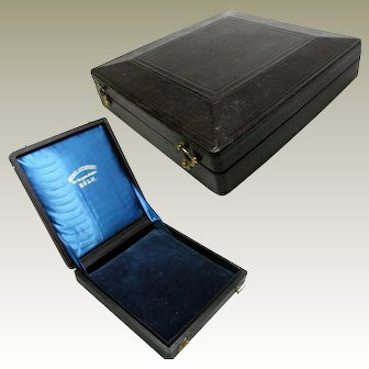 Leather Topped Presentation Box with Silk and Velvet Interior