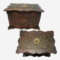 19th Century Fretwork Box