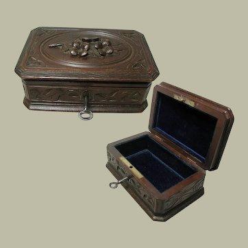 Antique Black Forest Trinket Box