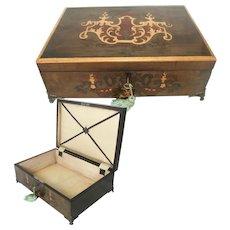 Inlaid Wooden Table Box / Casket. Circa 1910