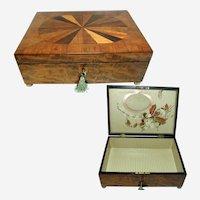 Georgian Box. Beautiful Figured Inlay & Veneer. English