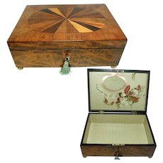 Georgian Box. Beautiful Figured Inlay & Veneer. English
