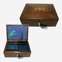 Victorian Solid Walnut Antique Box