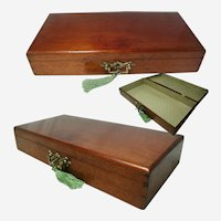 Antique Solid Wooden Box: English Late Victorian