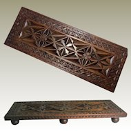 Carved Wooden Stand; Hand Made Country Piece. For a Vase or Display