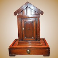 19th century Victorian Outhouse Inkwell