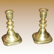 Victorian Miniature Brass Candlesticks