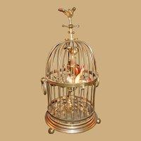French Cigar Caddy figural form as Birdcage circa 1880