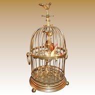 French Cigar Caddy figural form as Birdcage circa 1880