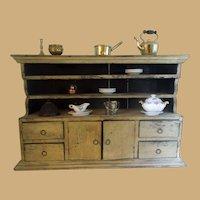Victorian  Original Mustard Paint Spice Cabinet