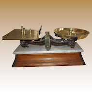 Antique Victorian Parnall Grocer's Scale - Top Quality circa 1880
