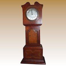 Edwardian Miniature Grandfather Clock - Apprentice Piece or Doll House