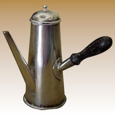 Antique Victorian Silver Pepper Shaker Figural Chocolate Pot - Saunders and Shepherd  Chester England 1893