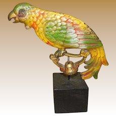 Huge Art Deco Parrot Lamp Finial