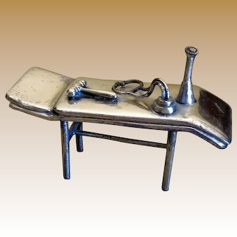 Antique SIlver Miniature of Doctor's Examining Table