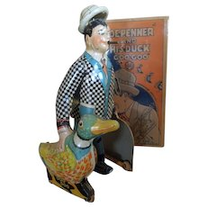 Superb Louis Marx 1930s Toy  Joe Penner & His Duck GOO GOO, with Rare intact Excellent Box