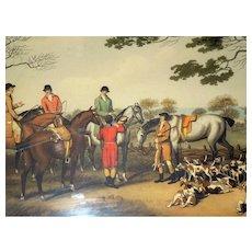Antique Hunting Georgian Aquatint Engravings 'La Chasse au Lievre' - Samuel Howitt 1807