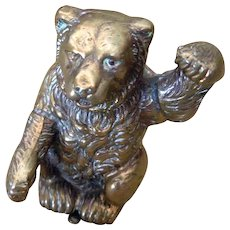 Early Victorian Bear Figural Sewing  Pin Holder or Cushion